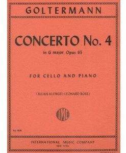 Goltermann Georg Concerto No 4 In G Major Op. 65 Cello Piano - by Julius Klengel Leonard Rose